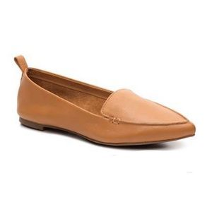 Aldo Camel Tan Leather Pointed Toe Galinksy Flats